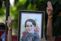 Aung San Suu Kyi had not been seen in public since being detained at the start of the coup