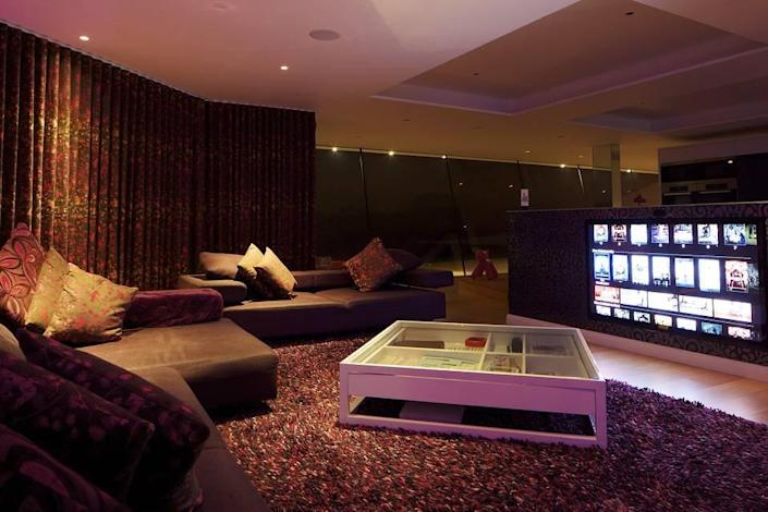 <p>The home is a super-modern manse with lots of electronic, digital and satellite bells and whistles.</p>