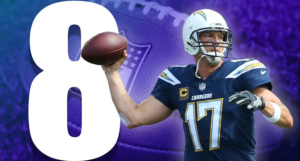 <p>Rams vs. Chargers on Sunday is an A-plus matchup. Nobody in Los Angeles will care, but it's a great game that'll tell us a lot about both teams. (Philip Rivers) </p>