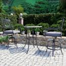 "<p>Create a café-inspired balcony with this three-piece set from Martha's Wayfair collection. The chairs' cushions offer a touch of modernity and comfort.</p> <p><strong><em>Shop Now: </em></strong><em>Martha Stewart x Wayfair ""Vicarage"" Three-Piece Bistro Set with Cushions, $699.99, <a href=""http://www.anrdoezrs.net/links/7799179/type/dlg/sid/MSLDesignerApprovedDcorItemstoMaximizeYourSmallBalconyafinesteOutGal7974456202008I/https://www.wayfair.com/outdoor/pdp/martha-stewart-vicarage-3-piece-bistro-set-with-cushions-mstt1299.html"" rel=""nofollow noopener"" target=""_blank"" data-ylk=""slk:wayfair.com"" class=""link rapid-noclick-resp"">wayfair.com</a></em><em>. </em></p>"