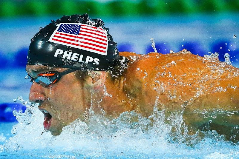 Michael Phelps of the US competes at the Gold Coast Aquatic Centre in Australia on August 24, 2014