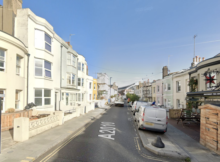 The fire happened in Surrey Street, Brighton. (Google Maps)