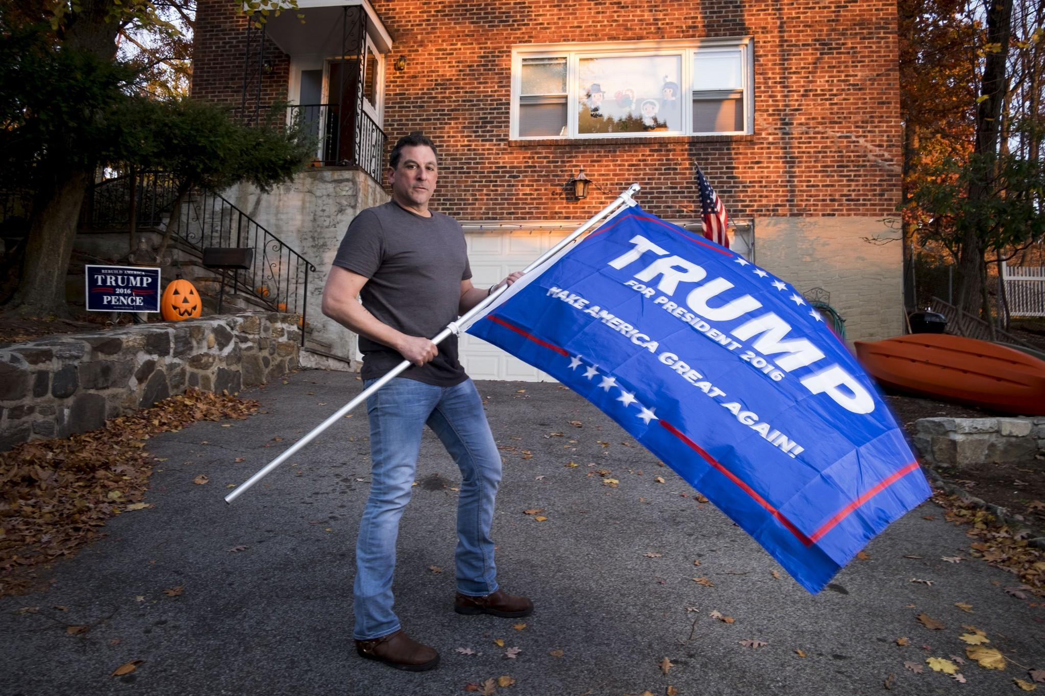 Trump supporter Chris Fresiello at his New York home on November 17, 2016. (David Scott Holloway for Yahoo News)