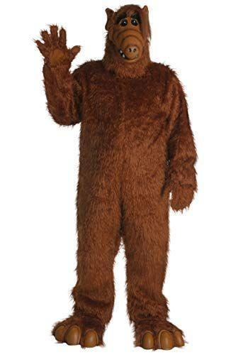 """<p><strong>Fun Costumes</strong></p><p>amazon.com</p><p><strong>$89.99</strong></p><p><a href=""""https://www.amazon.com/dp/B009PTS27K?tag=syn-yahoo-20&ascsubtag=%5Bartid%7C10055.g.4544%5Bsrc%7Cyahoo-us"""" rel=""""nofollow noopener"""" target=""""_blank"""" data-ylk=""""slk:Shop Now"""" class=""""link rapid-noclick-resp"""">Shop Now</a></p><p>This Alien Life Form has returned from Melmac and he's hungry for cats! If the head-to-toe costume is too much, you can always just get <a href=""""https://www.amazon.com/Adult-Overhead-Mask-Standard-Brown/dp/B01IJ0I69O?tag=syn-yahoo-20&ascsubtag=%5Bartid%7C10055.g.4544%5Bsrc%7Cyahoo-us"""" rel=""""nofollow noopener"""" target=""""_blank"""" data-ylk=""""slk:the mask"""" class=""""link rapid-noclick-resp"""">the mask</a>. </p>"""
