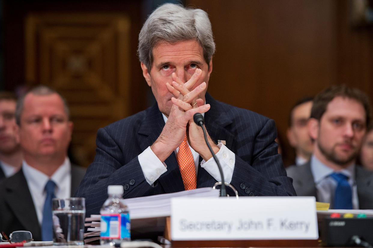 Secretary of State John Kerry appears before the Senate Appropriations Subcommittee on State, Foreign Operations and Related Programs on Feb. 24, 2015, to talk about fiscal year 2016 funding for the State Department.