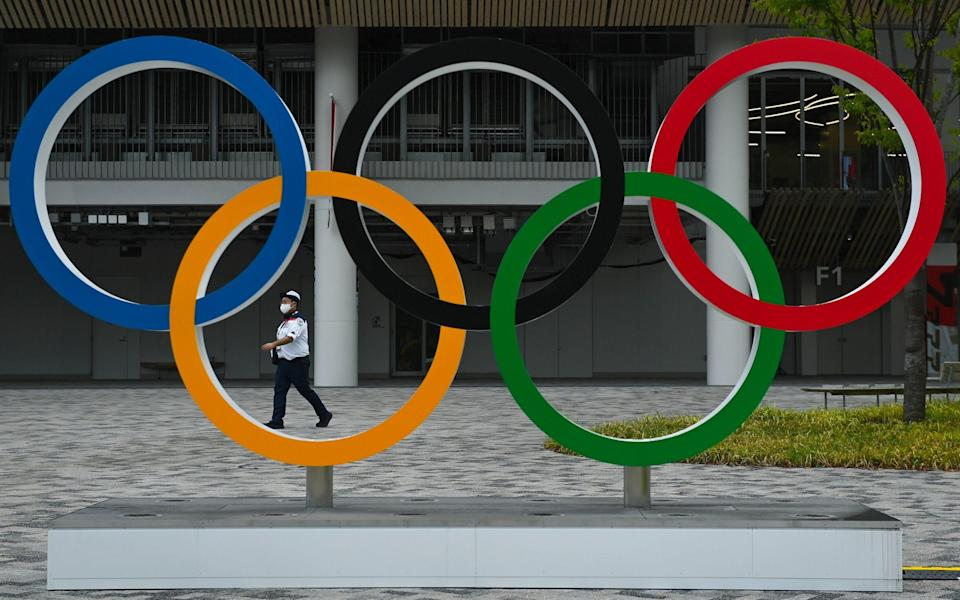 The Olympics rings in Tokyo - GETTY IMAGES