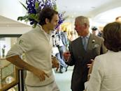 <p>Prince Charles and Roger Federer on day three of the championship.</p>