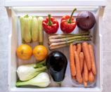 """<p>Laureen advises to """"put the things that expire first, like <a href=""""https://www.popsugar.com/fitness/How-Keep-Fruits-Vegetables-Fresh-8633030"""" class=""""link rapid-noclick-resp"""" rel=""""nofollow noopener"""" target=""""_blank"""" data-ylk=""""slk:fruits and vegetables"""">fruits and vegetables</a>, at the front"""" of the fridge. This helps you stay on top of when everything expires and reach for these options before other longer-lasting ones.</p>"""