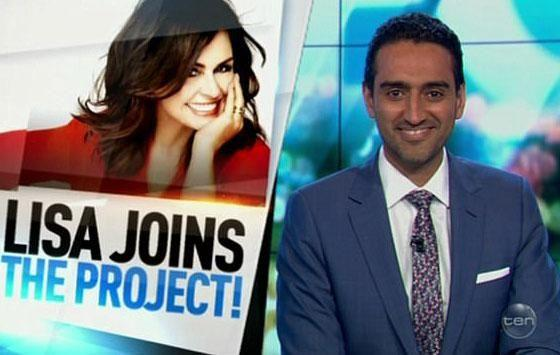 The Project's Waleed Aly had a welcoming message for Lisa Wilkinson during Tuesday night's episode. Source: Channel Ten