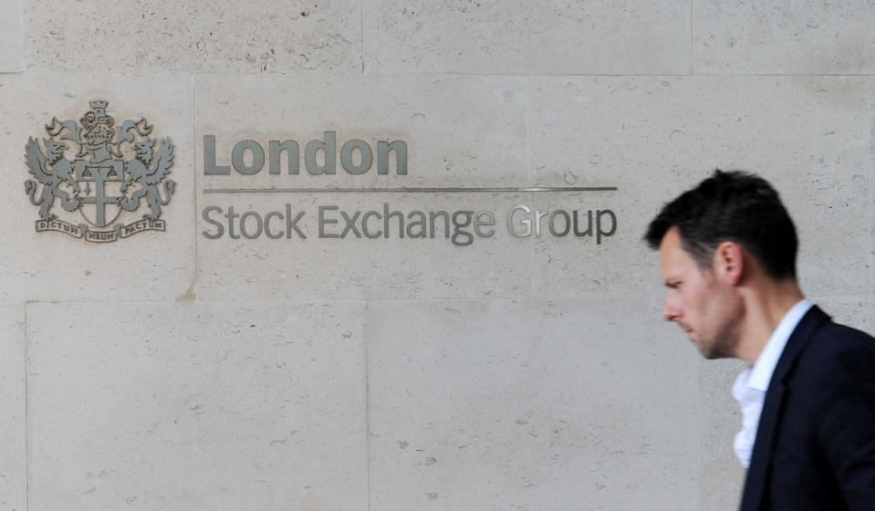 A sign in Paternoster Square outside the London Stock Exchange, as worries over Brexit negotiations have sent the pound tumbling to fresh 31-year lows, but the London market has powered ahead as sterling's woes have buoyed stocks.