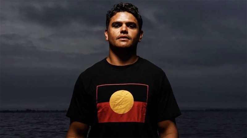 Latrell Mitchell, pictured, has been one of many Indigenous NRL players to voice their concerns over the Australian national anthem