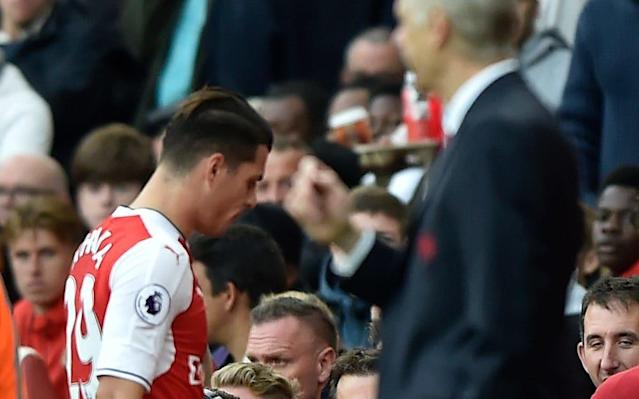 Granit Xhaka has a history of being sent off - -