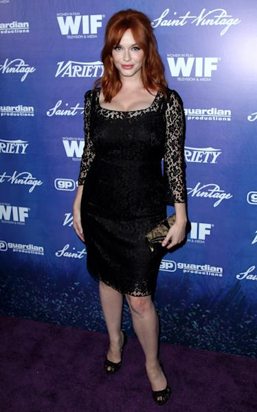 Christina Hendricks attends the Variety and Women in Film Pre-Emmy Event at Scarpetta on Friday, Sept. 21, 2012, in Beverly Hills, Calif. (Photo by Matt Sayles/Invision/AP)
