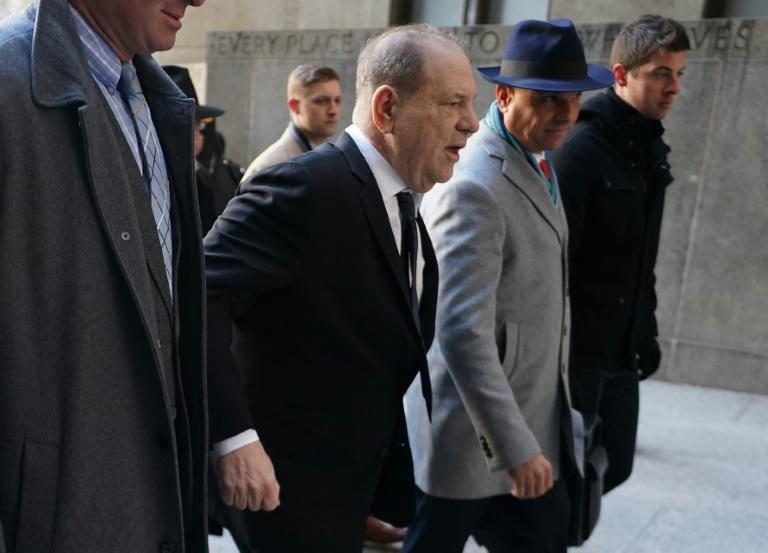 Harvey Weinstein arrives at the Manhattan Criminal Court