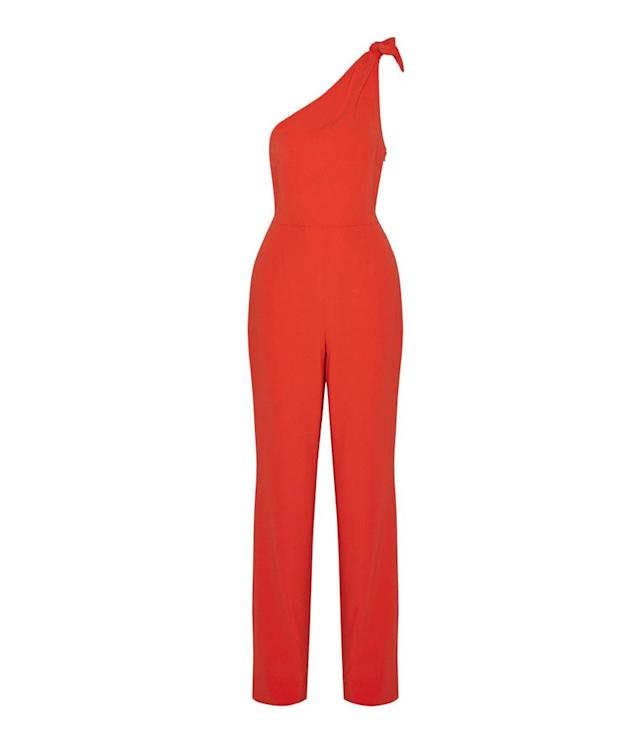 "<p>Knotted One-Shoulder Crepe Jumpsuit, $235, <a href=""https://www.net-a-porter.com/us/en/product/932375/Diane_von_Furstenberg/knotted-one-shoulder-crepe-jumpsuit"" rel=""nofollow noopener"" target=""_blank"" data-ylk=""slk:net-a-porter.com"" class=""link rapid-noclick-resp"">net-a-porter.com</a> </p>"