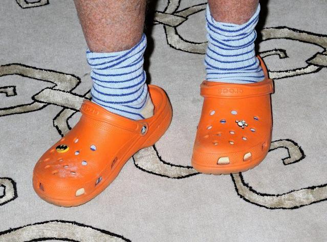 A look at chef Mario Batali's Crocs. Batali endorsed the shoe company in 2007. (Photo: Getty Images)