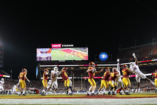 USC and Stanford played in the 2017 Pac-12 Championship Game at Levi's Stadium. (Getty)