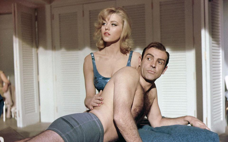 Margaret Nolan and Sean Connery in Goldfinger - Rex