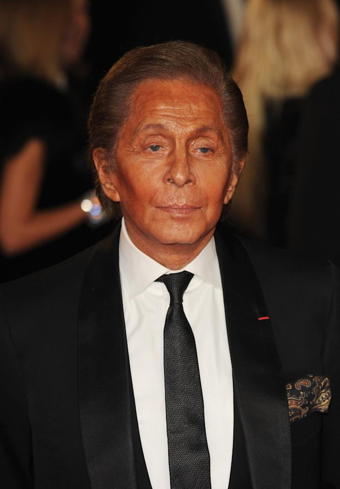 LONDON, ENGLAND - OCTOBER 23: Valentino attends the Royal World Premiere of 'Skyfall' at the Royal Albert Hall on October 23, 2012 in London, England.  (Photo by Eamonn McCormack/Getty Images)