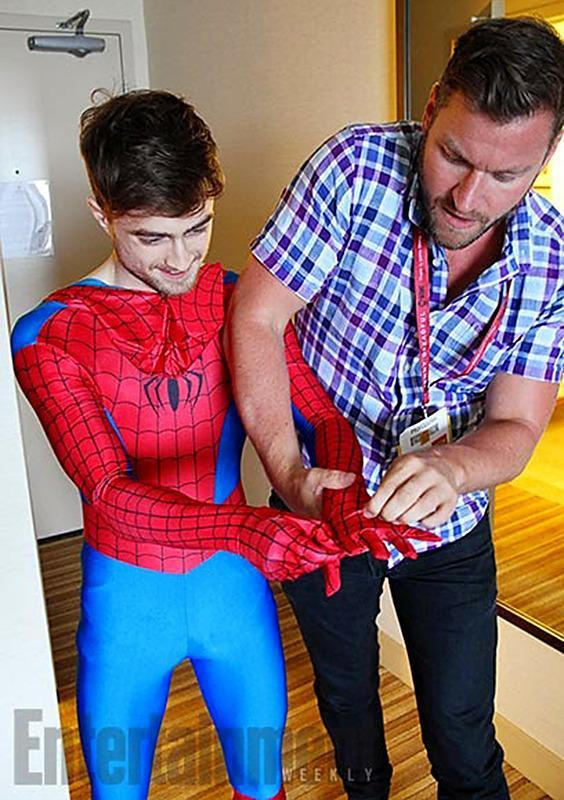 <p>The <i>Harry Potter</i> star wanted to see his first Comic-Con without being mobbed by fans, so he dressed up as Spider-man and walked the halls without being recognized. <i>(Photo: EW)</i></p>