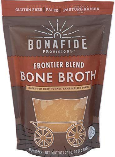 "<p><strong>Bonafide Provisions</strong></p><p>amazon.com</p><p><a href=""https://www.amazon.com/dp/B0793JSMPT?tag=syn-yahoo-20&ascsubtag=%5Bartid%7C2140.g.34373147%5Bsrc%7Cyahoo-us"" rel=""nofollow noopener"" target=""_blank"" data-ylk=""slk:Shop Now"" class=""link rapid-noclick-resp"">Shop Now</a></p><p>""This is one of the best packaged bone broths on the market,"" says Model. It's frozen at peak freshness to preserve nutrients with no fillers or additives. It comes in flavors like organic chicken, beef, and turkey. Try the ""frontier blend,"" a hearty and rich mix of beef, turkey, lamb and bison bones with rosemary.</p>"