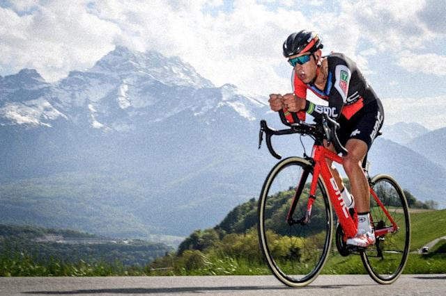 Australian Richie Porte from BMC Racing team is in a good position to win the Tour of Suisse (AFP Photo/Fabrice COFFRINI)