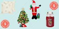 """<p><a href=""""https://www.prevention.com/life/a34248553/succulent-christmas-trees-etsy/"""" rel=""""nofollow noopener"""" target=""""_blank"""" data-ylk=""""slk:Christmas"""" class=""""link rapid-noclick-resp"""">Christmas</a> officially begins the minute you bust out the twinkle lights, <a href=""""https://www.prevention.com/life/g29268600/best-fall-candles/"""" rel=""""nofollow noopener"""" target=""""_blank"""" data-ylk=""""slk:seasonal candles"""" class=""""link rapid-noclick-resp"""">seasonal candles</a>, and light-up garland. While it's easy to get lost in the hustle and bustle that the <a href=""""https://www.prevention.com/life/g30140740/white-elephant-gifts/"""" rel=""""nofollow noopener"""" target=""""_blank"""" data-ylk=""""slk:holiday season"""" class=""""link rapid-noclick-resp"""">holiday season</a> brings (think: holiday <a href=""""https://www.prevention.com/life/a20503568/gifts-for-husbands/"""" rel=""""nofollow noopener"""" target=""""_blank"""" data-ylk=""""slk:shopping"""" class=""""link rapid-noclick-resp"""">shopping</a>, gift-giving, and brunch planning), it's important to make sure that your home is full of comfort and joy. Even if you already have your <a href=""""https://www.prevention.com/life/g29723685/best-artificial-christmas-trees/"""" rel=""""nofollow noopener"""" target=""""_blank"""" data-ylk=""""slk:artificial Christmas tree"""" class=""""link rapid-noclick-resp"""">artificial Christmas tree</a> ready to be unwrapped and decorated, take a look at these Christmas decorations on Amazon to spruce up your space with the season's best, everything from gold glittery stars to buffalo plaid trucks. </p><p><strong>All of these budget-friendly buys are part of <a href=""""https://www.prevention.com/beauty/a34192175/best-amazon-prime-day-beauty-deals/"""" rel=""""nofollow noopener"""" target=""""_blank"""" data-ylk=""""slk:Amazon Prime Day"""" class=""""link rapid-noclick-resp"""">Amazon Prime Day</a>, which means you can score up to 48% if you shop now</strong>. Since turning your house into a winter wonderland shouldn't come with a hefty price tag, we made sure that all of these Christmas decorations come in under $"""