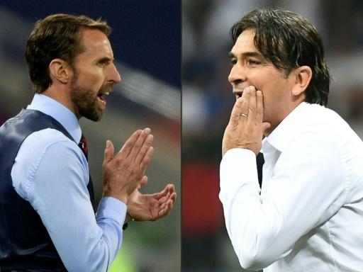 England coach Gareth Southgate (left) is going head to head with Zlatko Dalic in the World Cup semi-finals