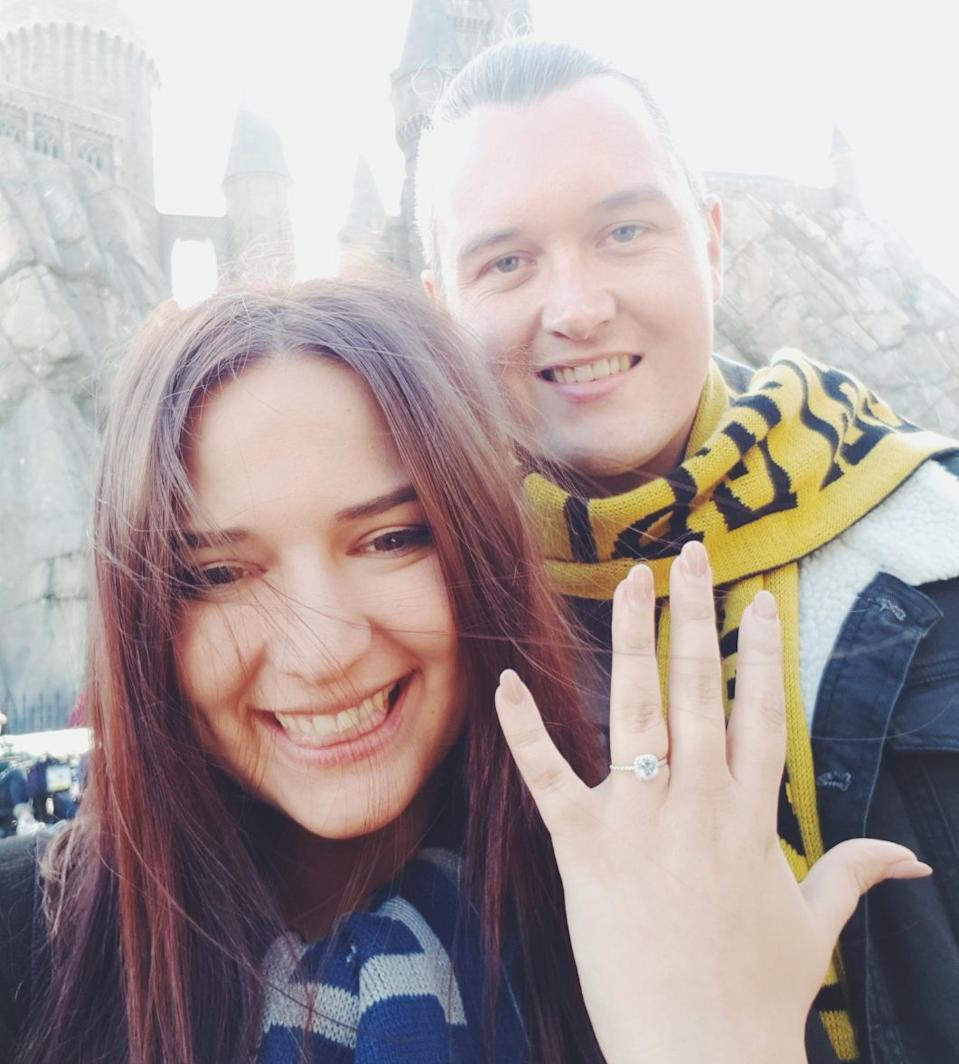 Dea and Jamie are due to get married early next year. Picture: Dea Krvavac/ Twitter