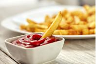 """<p>You might want to shake up your condiment strategy, as many store-bought ones are loaded with added sugar and/or sodium.</p><p>""""Ketchup is very high in sodium as well,"""" says <u><a href=""""https://drjuan.net/"""" rel=""""nofollow noopener"""" target=""""_blank"""" data-ylk=""""slk:Juan Rivera, MD"""" class=""""link rapid-noclick-resp"""">Juan Rivera, MD</a></u>, a cardiologist in Miami, Florida and chief medical correspondent for Univision Network and the author of <em><u><a href=""""https://www.amazon.com/Mojito-Diet-Doctor-Designed-14-Day-Weight/dp/1501192019?tag=syn-yahoo-20&ascsubtag=%5Bartid%7C2139.g.34290643%5Bsrc%7Cyahoo-us"""" rel=""""nofollow noopener"""" target=""""_blank"""" data-ylk=""""slk:The Mojito Diet"""" class=""""link rapid-noclick-resp"""">The Mojito Diet</a></u></em>. </p><p>Just two tablespoons contains 320 milligrams of sodium—14 percent of the way to your daily suggested limit of <u><a href=""""https://www.heart.org/-/media/data-import/downloadables/pe-abh-why-should-i-limit-sodium-ucm_300625.pdf"""" rel=""""nofollow noopener"""" target=""""_blank"""" data-ylk=""""slk:2,300 milligrams"""" class=""""link rapid-noclick-resp"""">2,300 milligrams</a></u>, recommended by the American Heart Association. Plus, it boasts eight grams of sugar per two-tablespoon serving. </p>"""