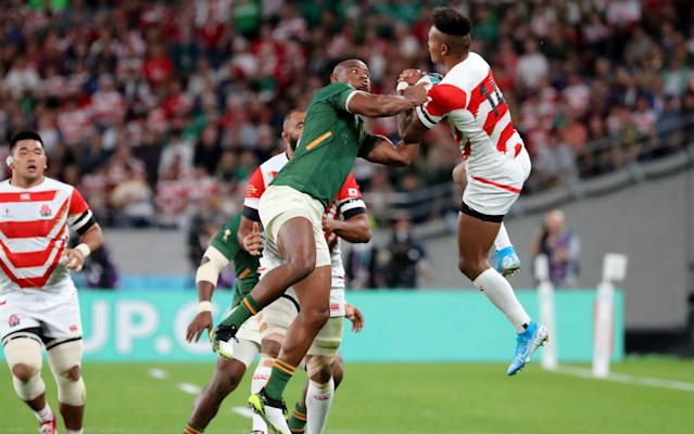 Japan conceded an early try against South Africa in their first ever World Cup quarter-final - AP