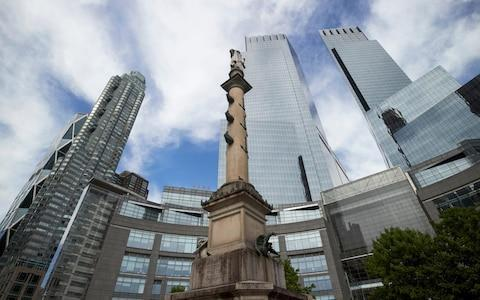 The Christopher Columbus statue in Columbus Circlce, New York