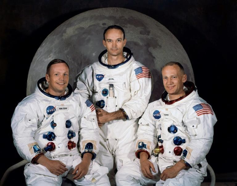 Neil Armstrong, Michael Collins and Buzz Aldrin (left to right), photographed on March 30, 1969