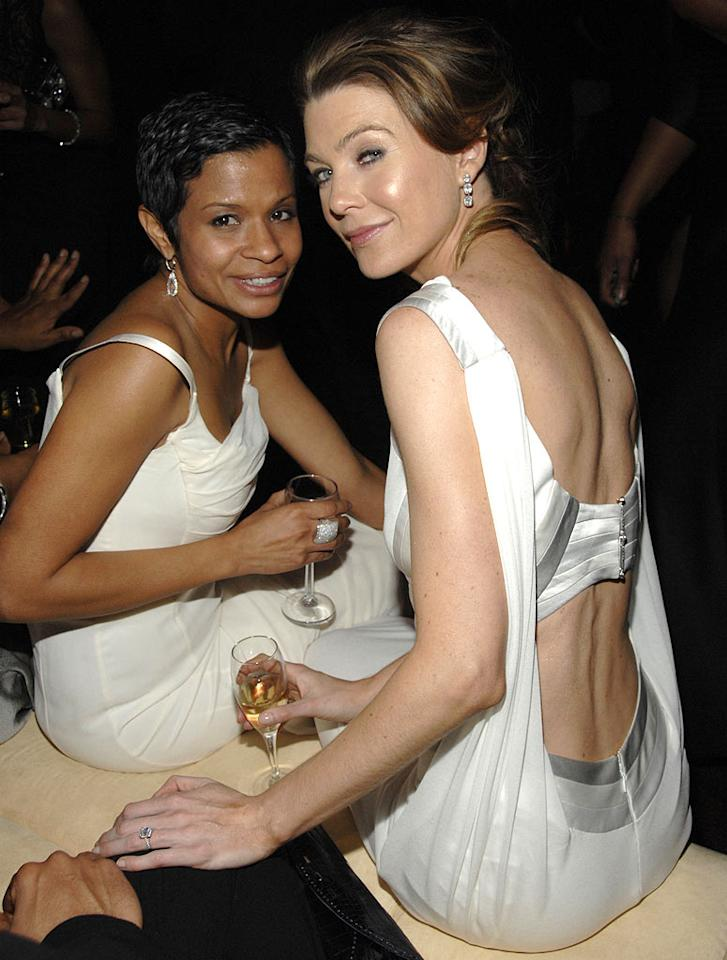 """Keisha Chambers and <a href=""""/ellen-pompeo/contributor/35513"""">Ellen Pompeo</a> at the In Style and Warner Bros. 2007 Golden Globe After Party."""