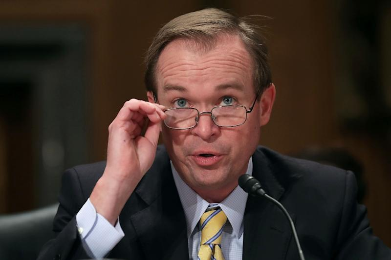 Mick Mulvaney, pictured during his confirmation hearing in January, was confirmed as director of the Office of Management and Budget by a vote of 51 to 49 on February 16, 2017