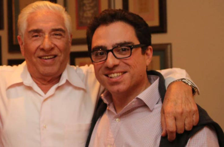 Baquer and Siamak Namazi (right).
