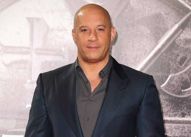 Vin Diesel makes for one interesting sandwich. (Photo: Mike Marsland/WireImage)