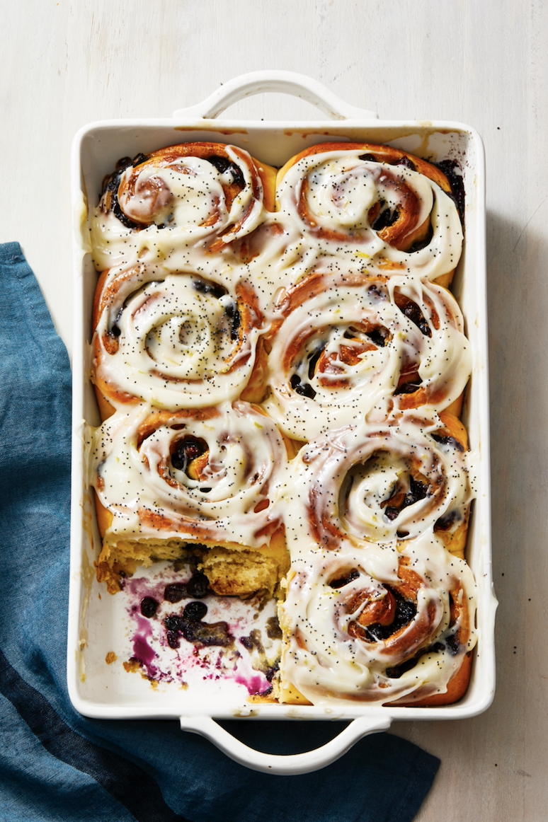 """<p>Tart lemon, juicy blueberries, gooey cream cheese ... there's too much goodness here to turn down this recipe. </p><p><em><a href=""""https://www.goodhousekeeping.com/food-recipes/a32223744/blueberry-sweet-rolls-with-lemon-recipe/"""" rel=""""nofollow noopener"""" target=""""_blank"""" data-ylk=""""slk:Get the recipe for Blueberry Sweet Rolls With Lemon »"""" class=""""link rapid-noclick-resp"""">Get the recipe for Blueberry Sweet Rolls With Lemon »</a></em></p>"""