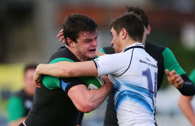 James Ryan is tackled by Brian Mollen