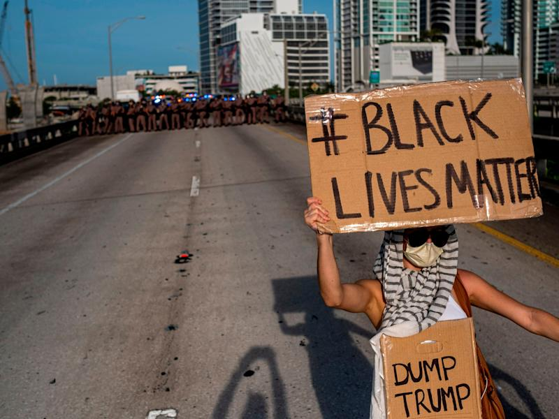 Protests Minneapolis highway black lives matter