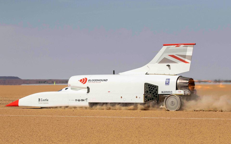 Bloodhound land speed record car - Charlie Sperring