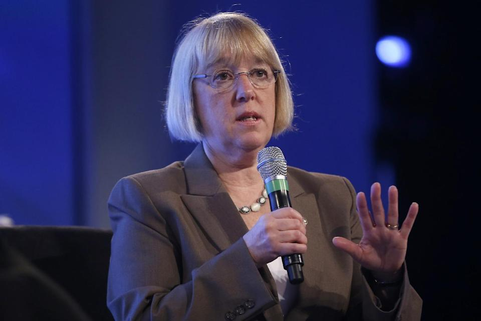 Senate Budget Committee Chair Sen. Patty Murray, D-Wash. speaks at the 2014 Fiscal Summit organized by the Peter G. Peterson Foundation in Washington, Wednesday, May 14, 2014. Lawmakers and policy experts discussed America's long term debt and economic future. (AP Photo)