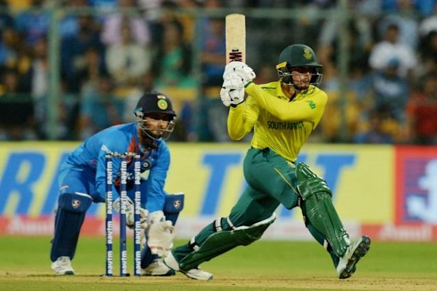 De Kock guided South Africa to victory (AFP Photo/Manjunath KIRAN)