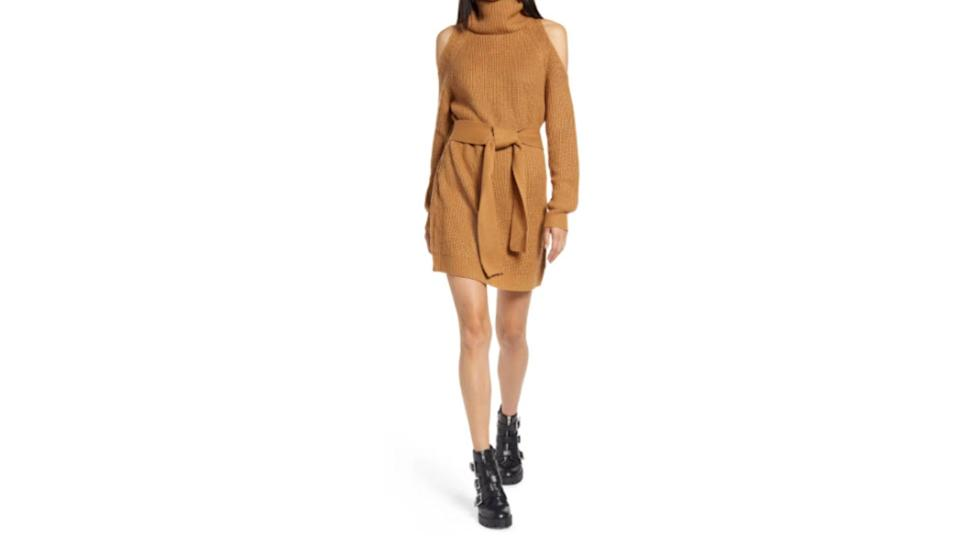 Sweet Demeanor Long Sleeve Cold Shoulder Sweater Minidress - Nordstrom. $22 (originally $56)