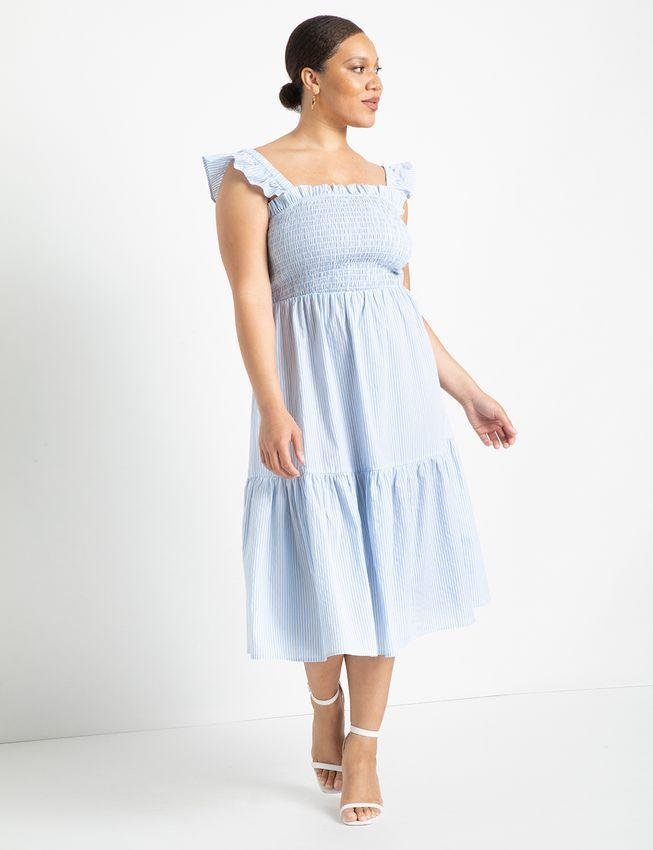 """<h2>Eloquii</h2><br><strong>Dates: </strong>Today only!<br><strong>Sale: </strong>40 - 50% off all tops and dresses<br><strong>Promo Code: </strong>INTOIT<br><br><em>Shop <strong><a href=""""https://www.eloquii.com/"""" rel=""""nofollow noopener"""" target=""""_blank"""" data-ylk=""""slk:Eloquii"""" class=""""link rapid-noclick-resp"""">Eloquii</a></strong></em><br><br><strong>Eloquii</strong> Smocked Bodice Ruffle Day Dress, $, available at <a href=""""https://go.skimresources.com/?id=30283X879131&url=https%3A%2F%2Fwww.eloquii.com%2Fsmocked-bodice-ruffle-day-dress%2F1227778.html%3Fdwvar_1227778_colorCode%3D32"""" rel=""""nofollow noopener"""" target=""""_blank"""" data-ylk=""""slk:Eloquii"""" class=""""link rapid-noclick-resp"""">Eloquii</a>"""