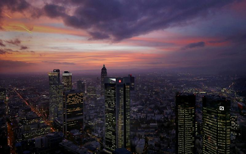 The skyline in Frankfurt - REUTERS