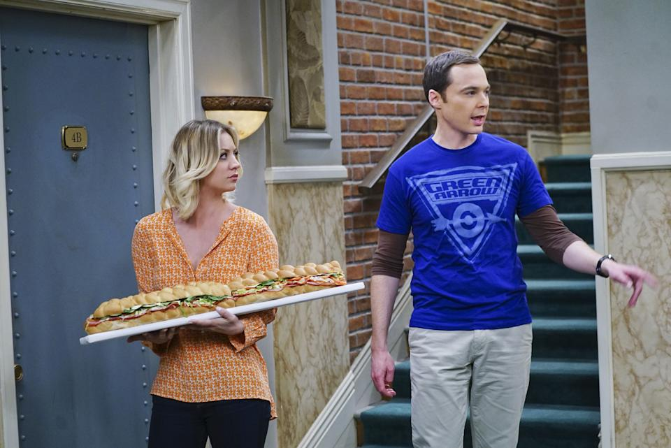 Kaley Cuoco and Jim Parsons in The Big Bang Theory. (Monty Brinton/CBS via Getty Images)