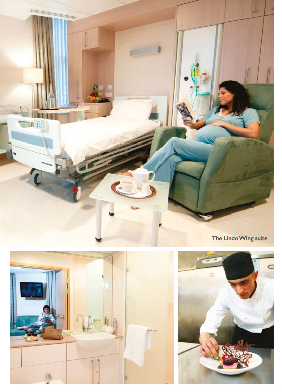 The Lindo Wing brochure offers 'world-class' maternity care. Photo: Lindo Wing