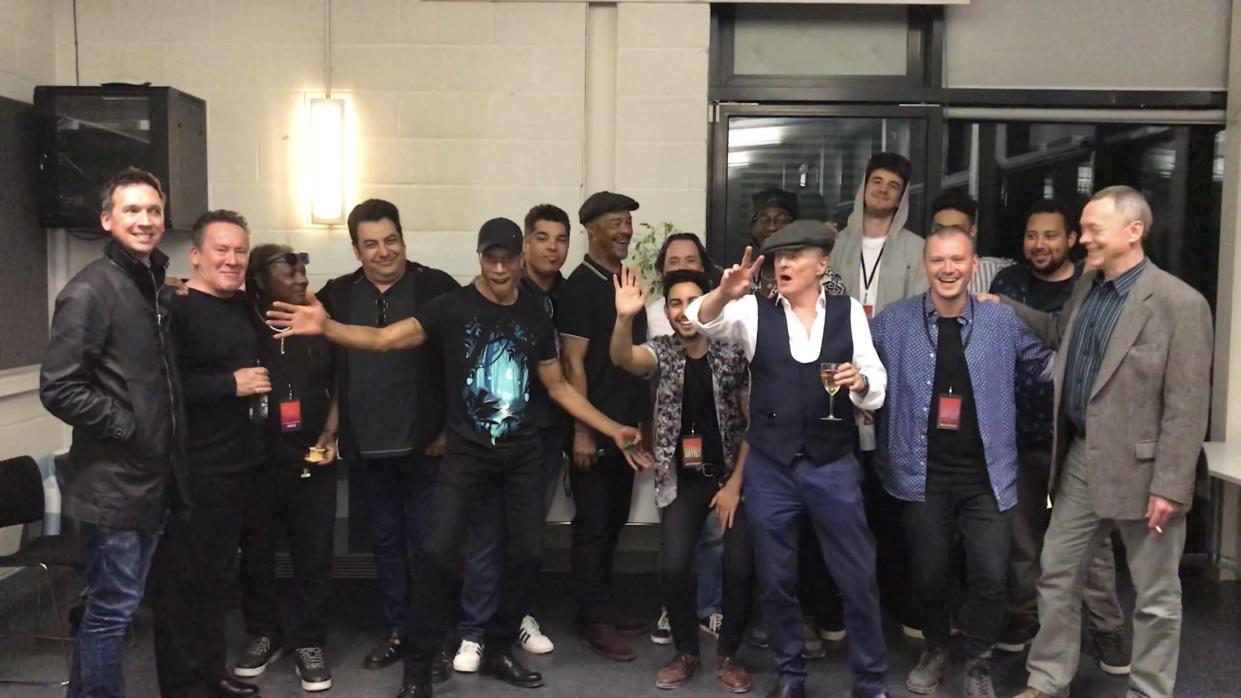Matt Doyle (second from right) next to Duncan Campbell (far right) with UB40 and Kioko (Matt Campbell)