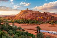 <p>Ait Benhaddou is an impressive fortified city (or ksar) made up of many kasbahs, earthen buildings made from mud and straw.</p>